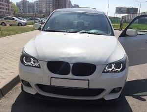 Image 4 - For BMW 5 SERIES E60 E61 LCI 525i 528i 530i 545i 550i M5 2007 2010 High Quality DTM Style White Crystal LED angel eyes Day light