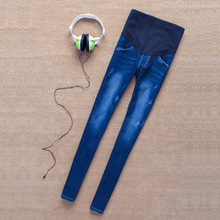 Brand New Fashion and Stylish Pregnant Women Elastic Stretchy Cotton Jeans Denim Pencil Pants Maternity Trousers
