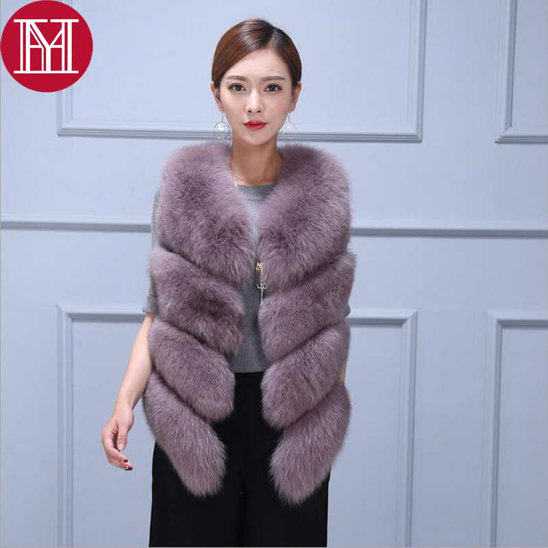 2017 women real natural fox fur vest 100 genuine fox fur gilet warm real fox fur