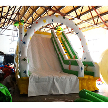 Commercial inflatable land slide drop