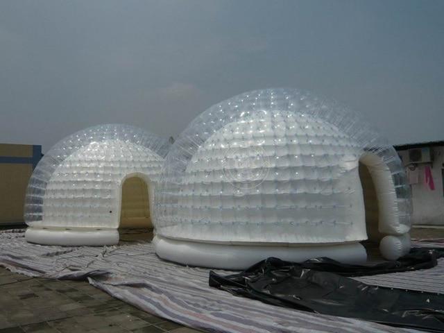 Inflatable transparent dome PVC igloo inflatable clear tent & Inflatable transparent dome PVC igloo inflatable clear tent-in ...