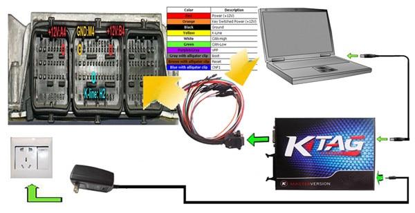 KTAG V2.13 KTAG FW V7.003 KTM100 KTAG ECU Инструмент для программирования мастер-версия может выбрать ECM TITANIUM V1.61 с 18475 Драйвером