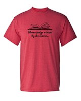 ffd3357b9 Never Judge A Book By Its Movie English Literature Teacher Writer Tee Funny  Humor Pun Graphic