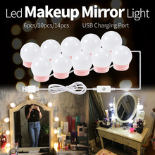 LED 12V Makeup Table Mirror Light Bulb Dimmable Hollywood Vanity Make Up Mirror Lamp Led 8W 12W 16W 20W Dressing Room Bulbs Kit vanity makeup dressing table mirror led light bulbs kit stepless dimmable led wall lamp 12w 16w 20w cosmetic light for bathroom