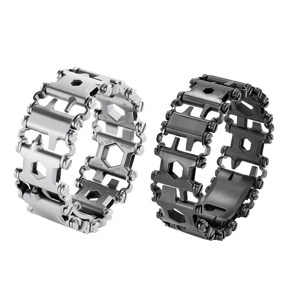2018 Новый переносной Нержавеющаясталь браслет многоцелевой инструмент браслет отвертка металлический браслет инструмент