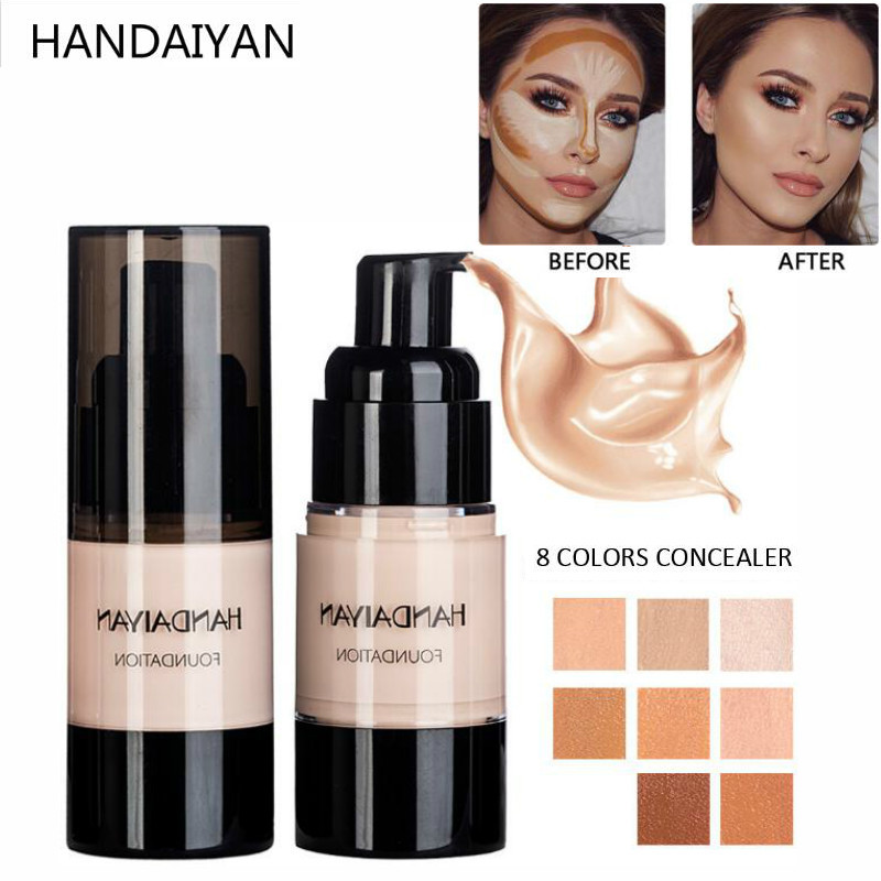 HANDAIYAN Liquid Makeup Foundation Cream Soft Matte Liquid Foundation And Concealer Waterproof Face Natural Makeup Base New 20ml in Face Foundation from Beauty Health