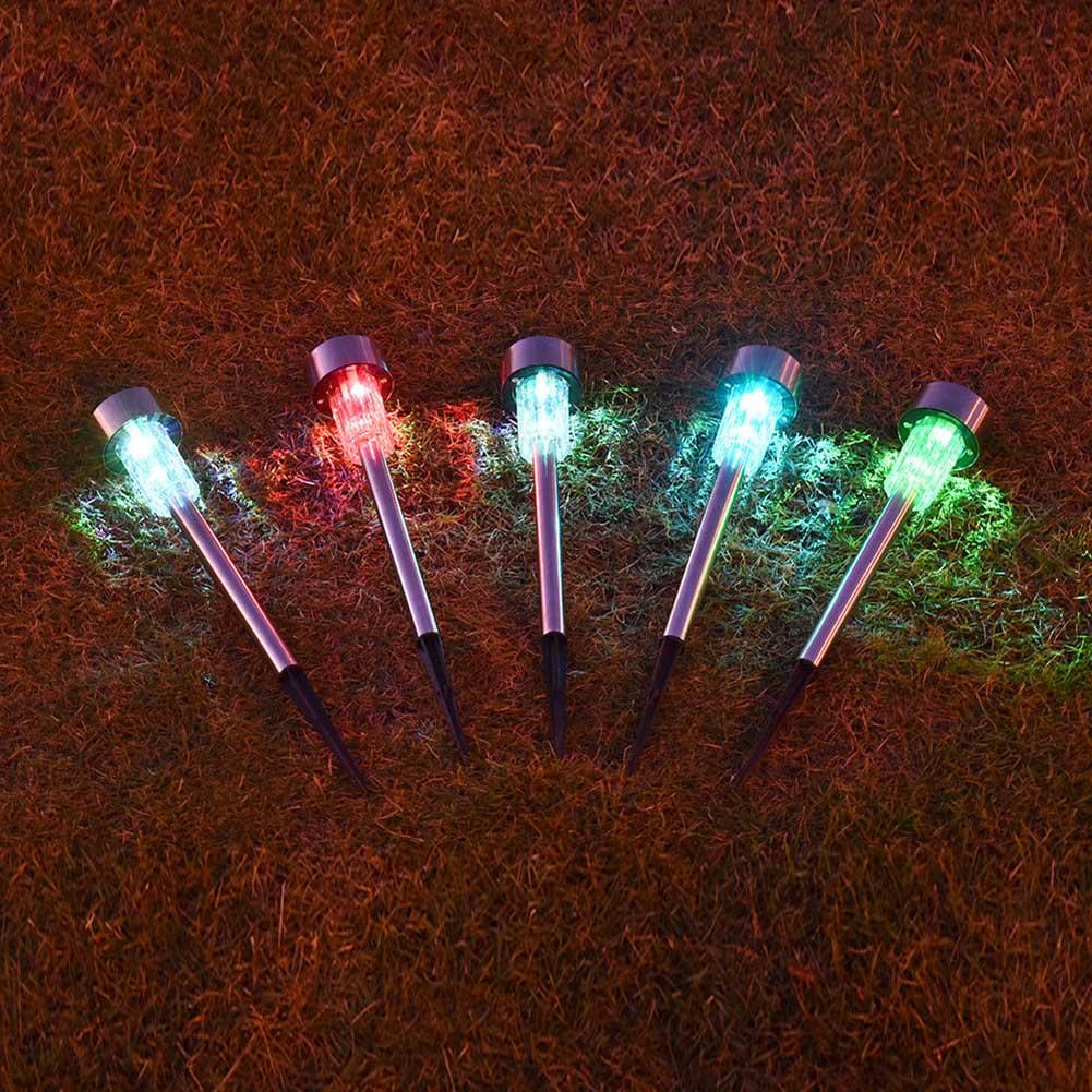 Outdoor Garden LED Solar Light Landscape Path Spot Lights Waterproof Yard Lamp DTT88