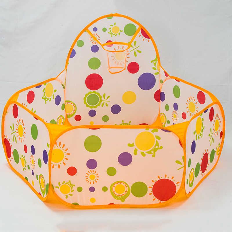 Polka Dot Mainan Tenda 100 Pcs Bola Anak-anak Portabel Boks Tenda Mainan Basket Luar Ruangan Bermain Kolam Renang Lipat Gas Penuh Rumah 985-Q42