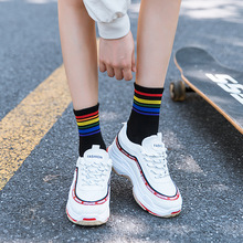 European American street fashion letter socks female cotton breathable tide ladies English sockss