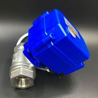 DC24V 3 Wires CR02 Wiring 2 Way BSP 1/2'' Stainless Steel Electric Ball Valve DN15 Electric Shut Off Valve CE Approved