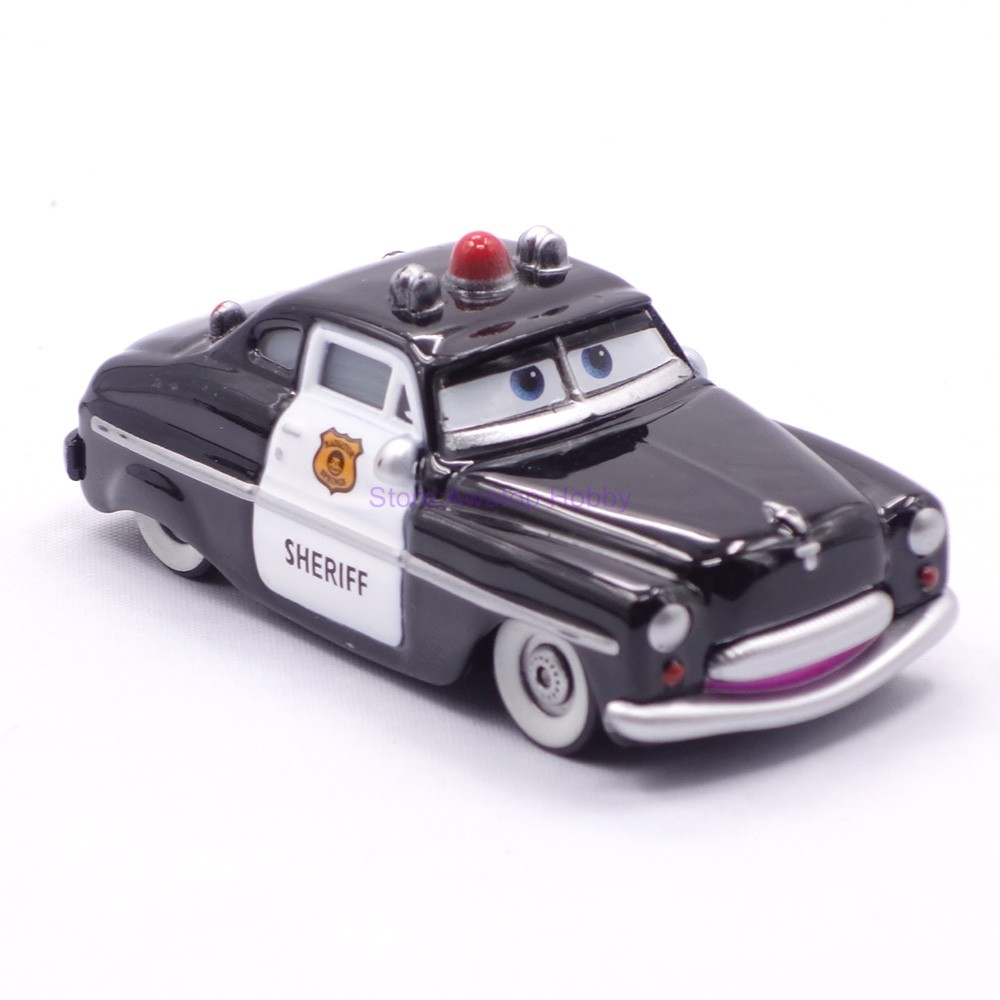 Cars Sheriff diecast metal car kids vehicles toys Scale 1:55 Loose