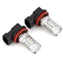 2pcs H8 LED Fog Lamp Bulbs 12V 100W  6000K White Highlighting Automobile Headlights Light for Cars Vehicles