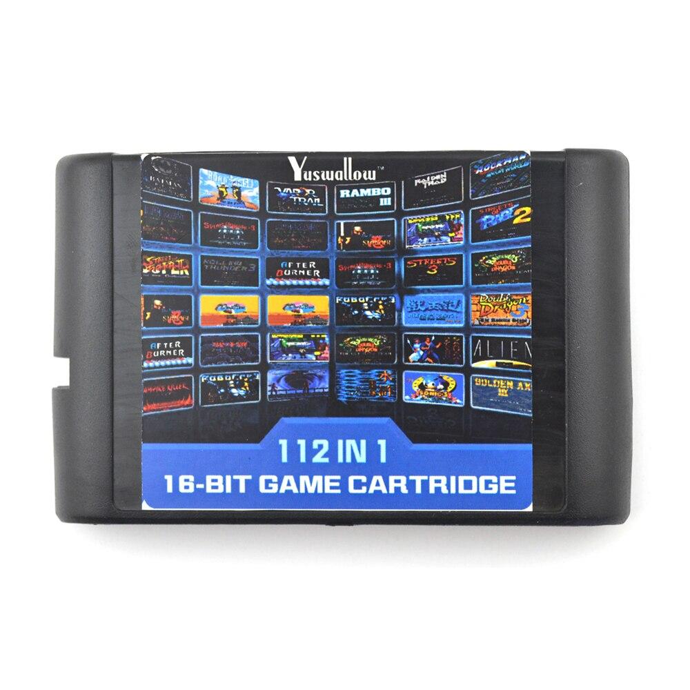 22/36/112 in 1 Game Cartridge 16 bit Game Card For Sega Mega Drive For Sega Genesis