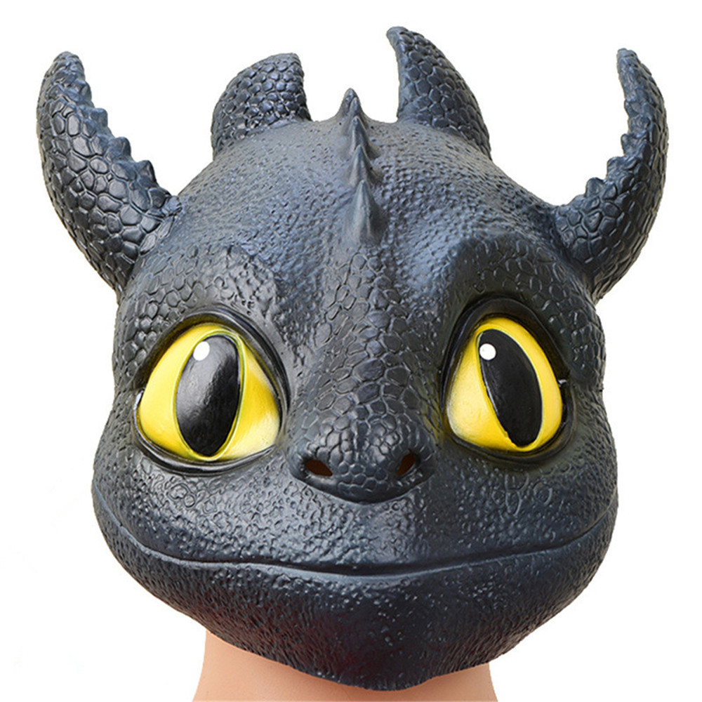 How to Train Your Dragon Toothless Night Fury Gronckle Terrible Terror Full Head Mask Cosplay Halloween Latex Masks