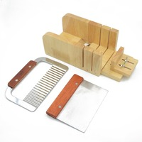 1pc Wood Soap Mold Lb Adjustable Cutter Loaf Bar Slicer Process Kit Handmade Bottom Lid Slicer