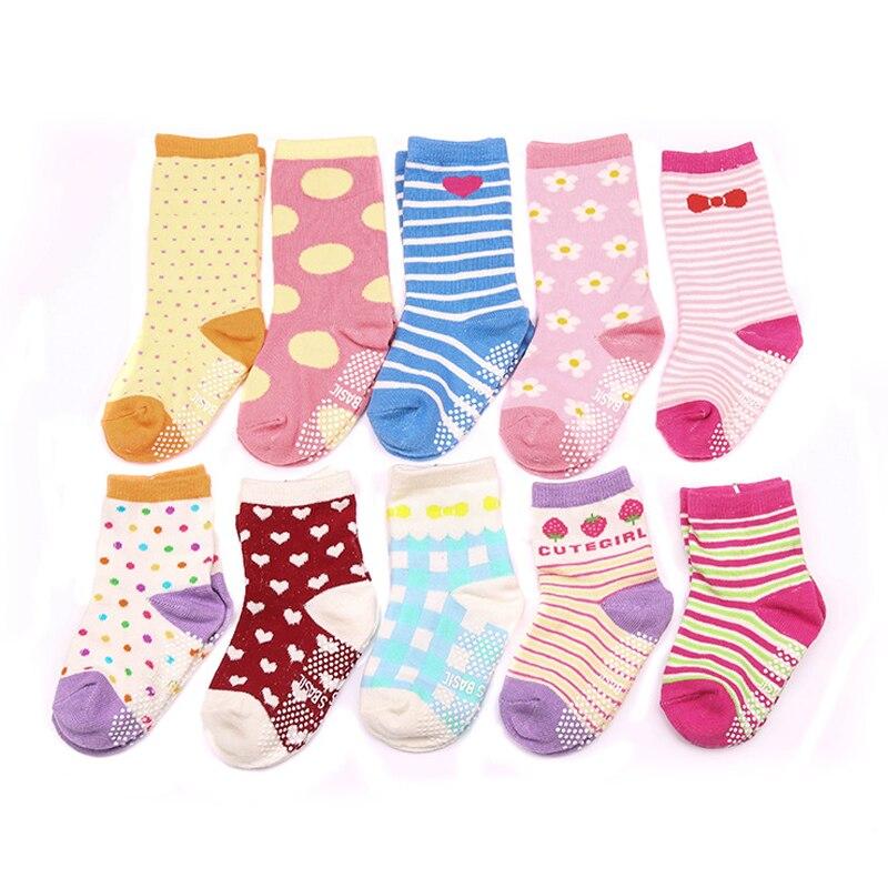 w081 Doprava zdarma 1-3 roky candy-barevné dámské ponožky sladké série bavlna krátká tubing-in-tube dětské ponožky kombinace