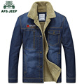 M~3XL New Retro Warm Denim Jackets Mens Jeans Coats Winter Jacket men Brand AFS JEEP Thicken Cowboy Coat Men Outwear Male