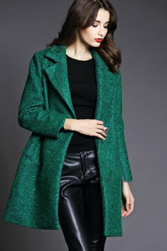 Lana Verde En Hombre Abrigo Verde abrigo dYHPfqqx