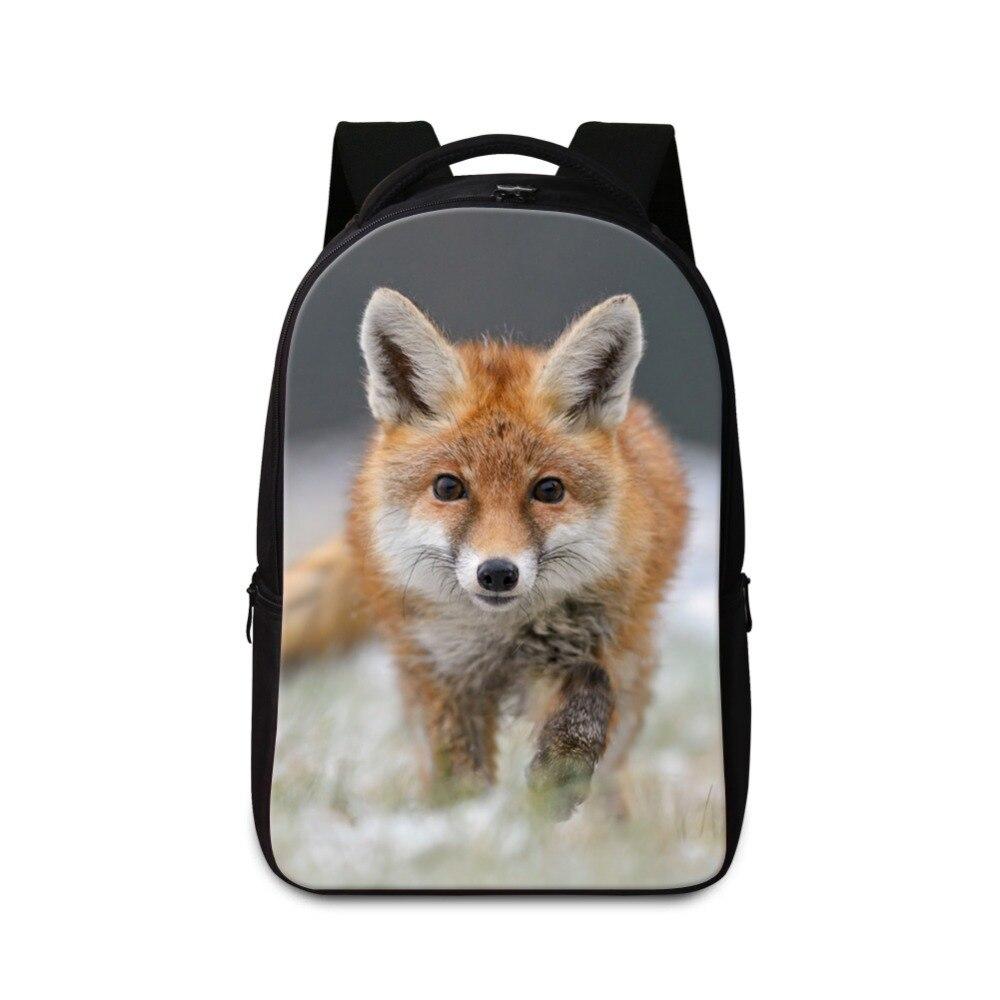 Большая школа Рюкзаки для Средняя школа студентов с изображением лисы Bookbags ноутбука Back Pack для Колледж милые детские ранцы