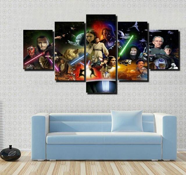 Star Wars Movie Poster Framed Canvas