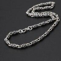 necklace men long necklaces silver 925 chokers 65cm 6mm