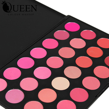 QUEEN Brand 28 Colors primer Blush Palette  Makeup Rouge in Bronzers and Highlighters Baeuty Make up Blush AB28