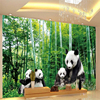 Custom Photo Wallpaper Mural Wall Sticker National Forest National Treasure Giant Panda HD Wall Papel De