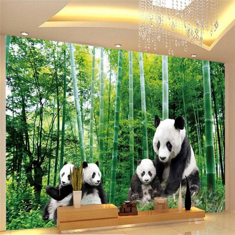 Beibehang Custom Photo Wallpaper Sticker National Forest National Treasure Giant Panda HD Wall Papel De Parede 3d Para Sala Ata