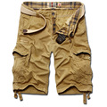 Мужчины лето военная шорты 2017 Новый бермуды masculina джинсы мужской моды мешковатые шорты-карго (без ремня)