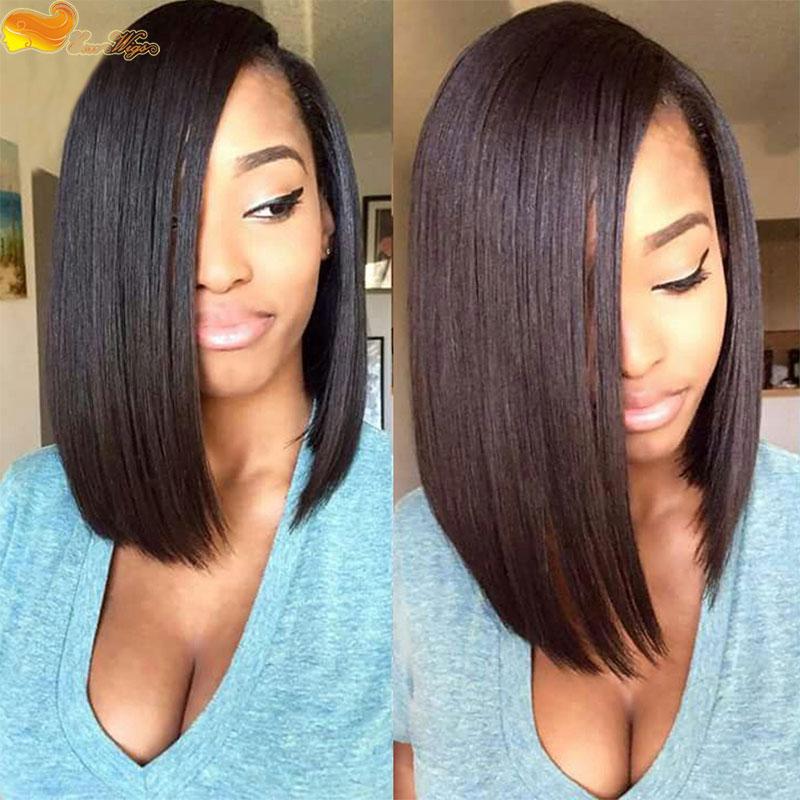 Short Bob Wigs For Black Women Brazilian Virgin Human Hair