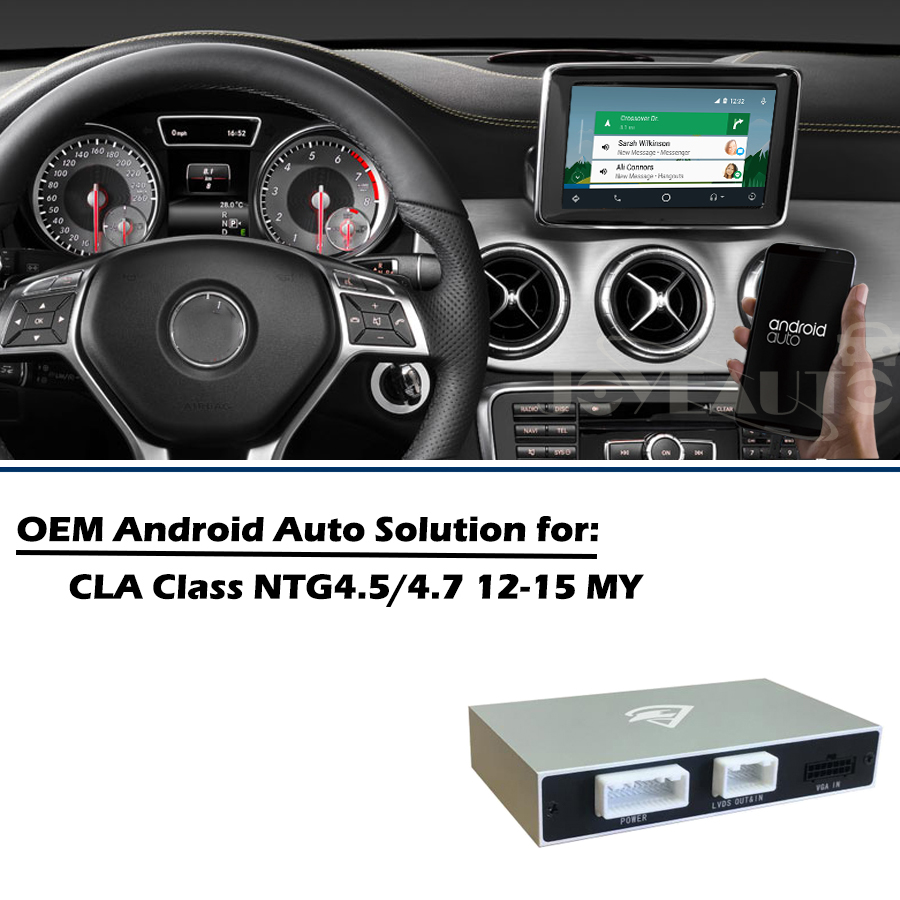 US $329 25 25% OFF|Aftermarket Mercedes CLA Coupe C117 2013 2015 NTG4 5  Apple Carplay Android Auto box Retrofit with Rear View Camera Waze  Spotify-in