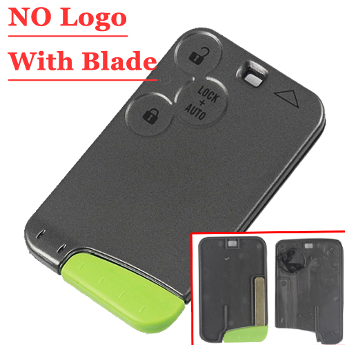 Free Shipping(5pcs/lot)3 Button Smart Card Case Best Quality For Renault Laguna No Logo No Words With Blade