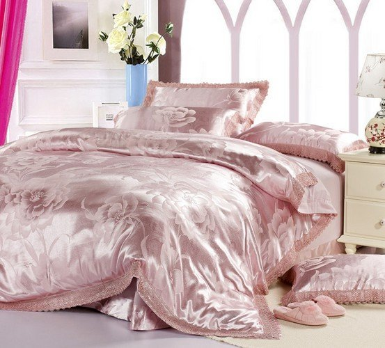 120419   free shipping  Luxurious  printed 4pcs bedding set/silk bedding set/ flat sheet