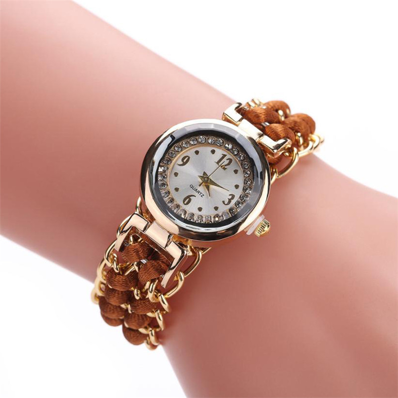 Watches OTOKY Women Knitting Rope Chain Winding Ladies Analog Quartz Wrist Watch Montre Femme Drop Shipping Aug-23 old antique bronze doctor who theme quartz pendant pocket watch with chain necklace free shipping
