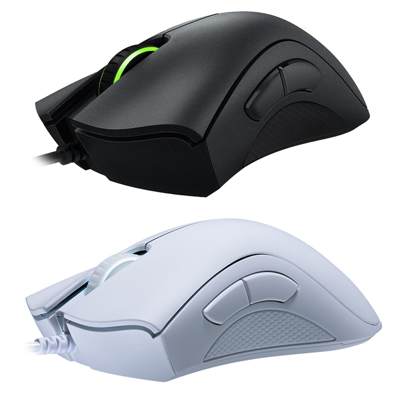Original Razer DeathAdder Essential Wired Gaming Mouse Mice 6400DPI Optical Sensor 5 Independently Buttons For Laptop PC Gamer 4
