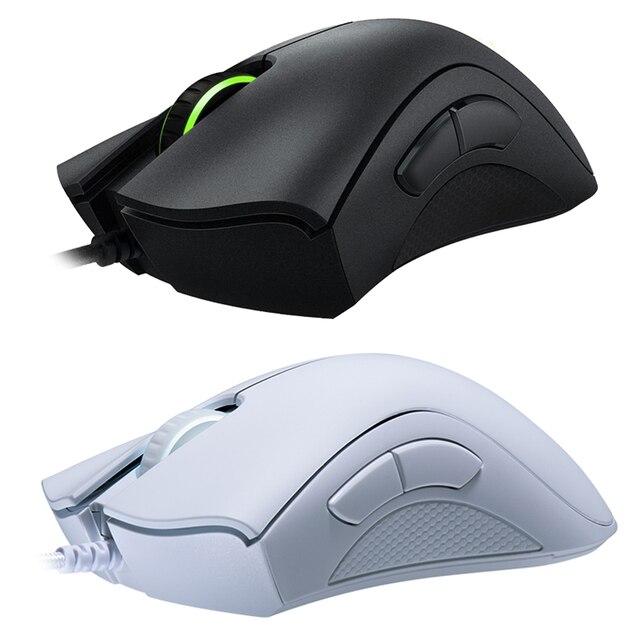 Mouse Mouse da gioco cablato essenziale Razer DeathAdder originale 6400DPI sensore ottico 5 pulsanti indipendenti per PC portatili Gamer 6