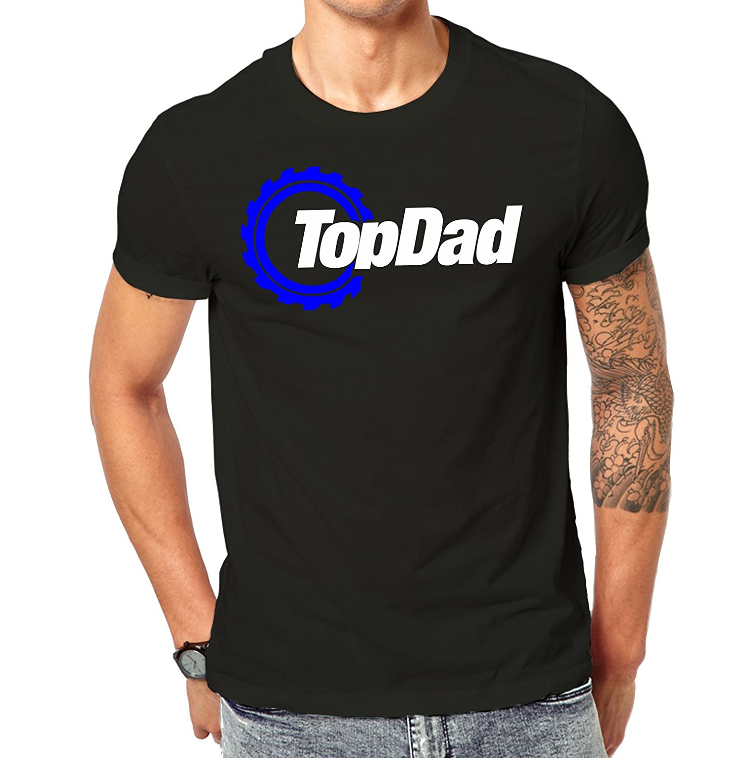 2018 Fashion t-shirt Top Dad Motor Sporter Racer Fathers Days T-Shirt Top Gear