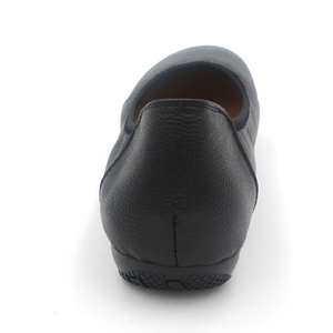 Image 5 - TIMETANG אופנה אמיתי עור בלט שטוח נעלי אישה מחודדת בתוספת מוצק שחור רדוד רך משרד עבודה בהריון נעלי אישה