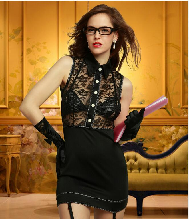 Hot Cosplay Female Secretary Uniform Sexy Lingerie Women Costumes Sex Products Toy -8630