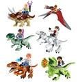 Dinosaurios del jurásico mundo bloques de construcción de juguete conjunto de juguetes de los niños diy juguetes de dinosaurios de juguete 2017 bloques niño niña bl136