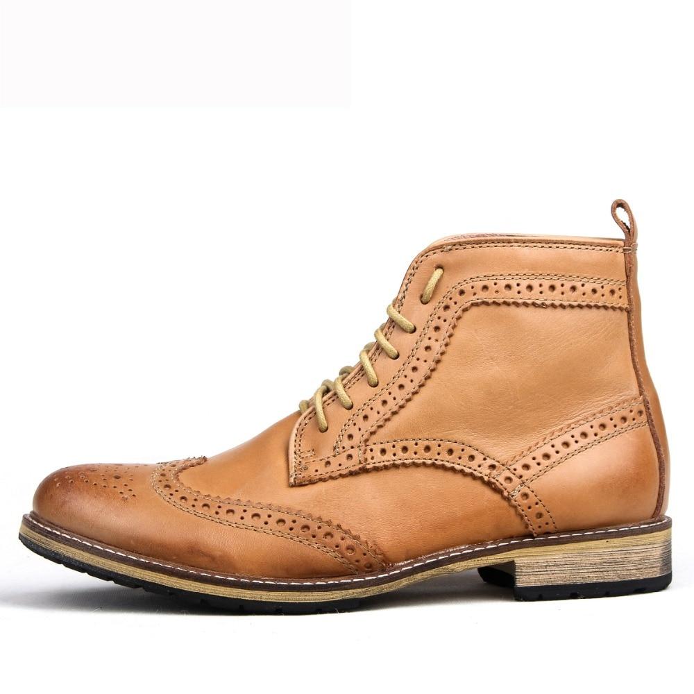 Hombres Populares Invierno Tobillo Adultos Diseño 2018 Botas Para Zapatillas Zapatos brwon Nuevo Hombre Masculinos Cuero Mycolen Cálido Negro De Los Moda Lujo Awv0qqFOT