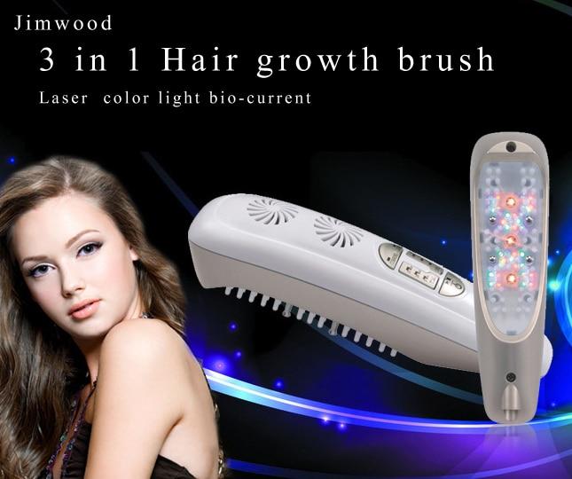 Repousse des cheveux peigne Laser Micro courant pour la perte de cheveux alopécie Massage du cuir chevelu enlever les pellicules amincissement cheveux santé réparation croissance