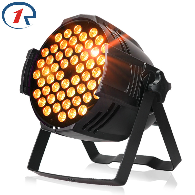 ZjRighrt 90W RGB 3 in 1 Fullcolor 54 LED Par light DMX512 Sound control PRO LED stage light for Music concert bar dj disco light led par stage light dj disco with music activated auto run and dmx512 control mode different colors combinations of rgb rotating