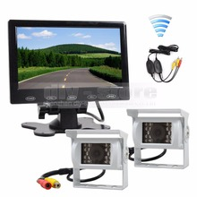 DIYKIT 7 inch Touch Car Monitor Backup CCD Waterproof Camera Rear View Kit for Horse Trailer Motorhome System