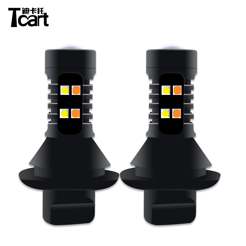 Tcart turn signal lamps 1156 PY21W For <font><b>Chevrolet</b></font> <font><b>CRUZE</b></font> SPARK drl lamps accessories daytime <font><b>running</b></font> <font><b>lights</b></font> image