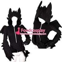 Как приручить дракона Nightfury Беззубик толстовка с капюшоном с рисунком дракона фильм косплей костюм на заказ