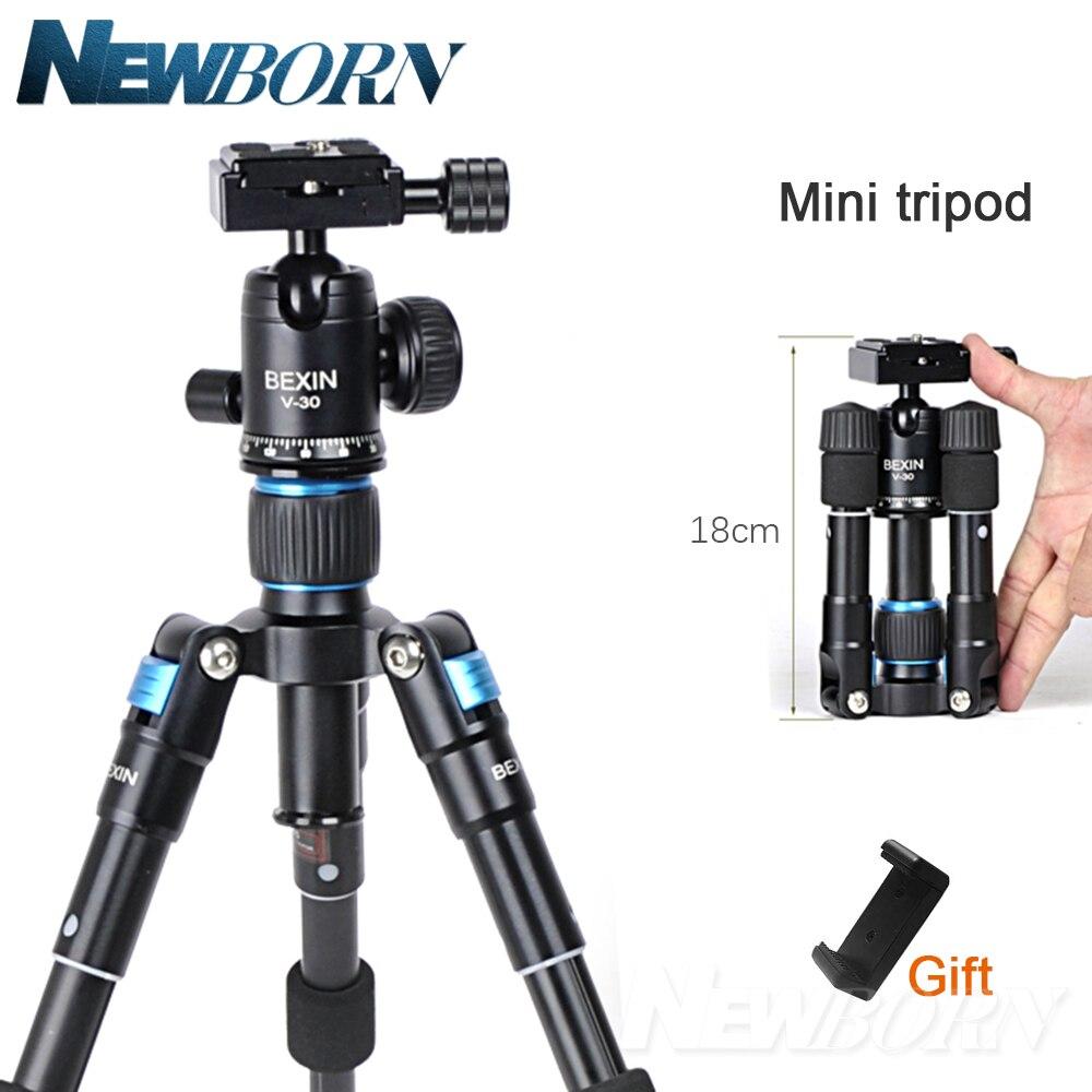 Trépied d'appareil-photo en aluminium léger Portable Mini trépied de bureau pliable Flexible Compact avec rotule pour Sony Nikon Canon