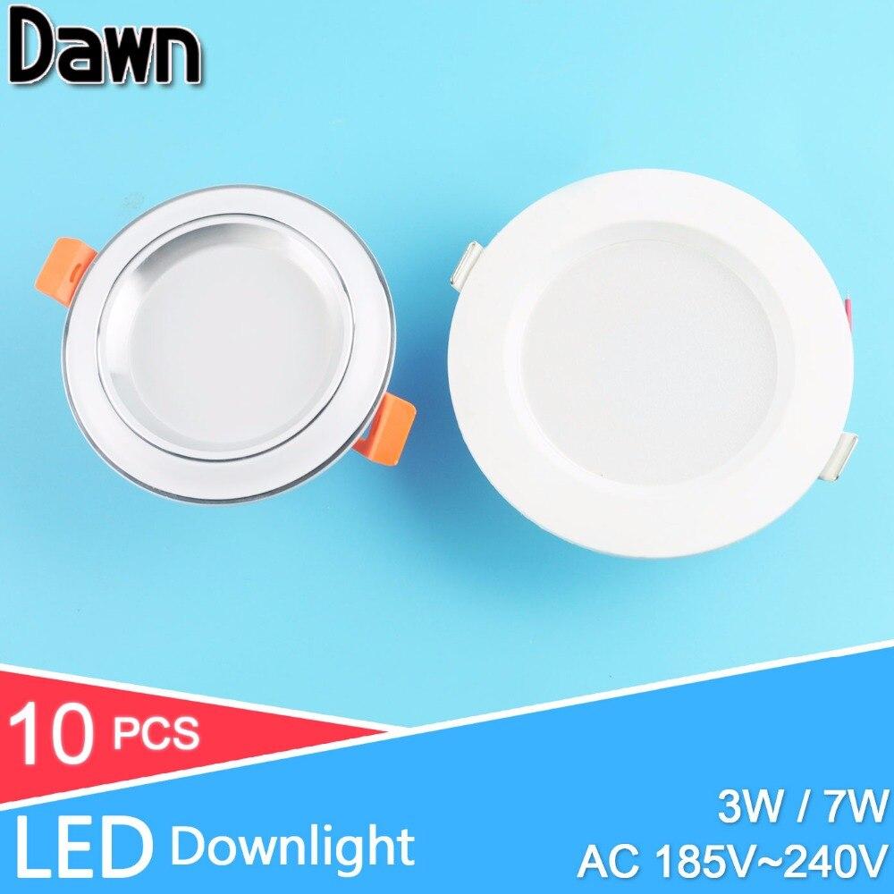 10pcs 4inch 5inch led downlight 220v 3w 7w down light lamp bulb lighting spot led for living. Black Bedroom Furniture Sets. Home Design Ideas