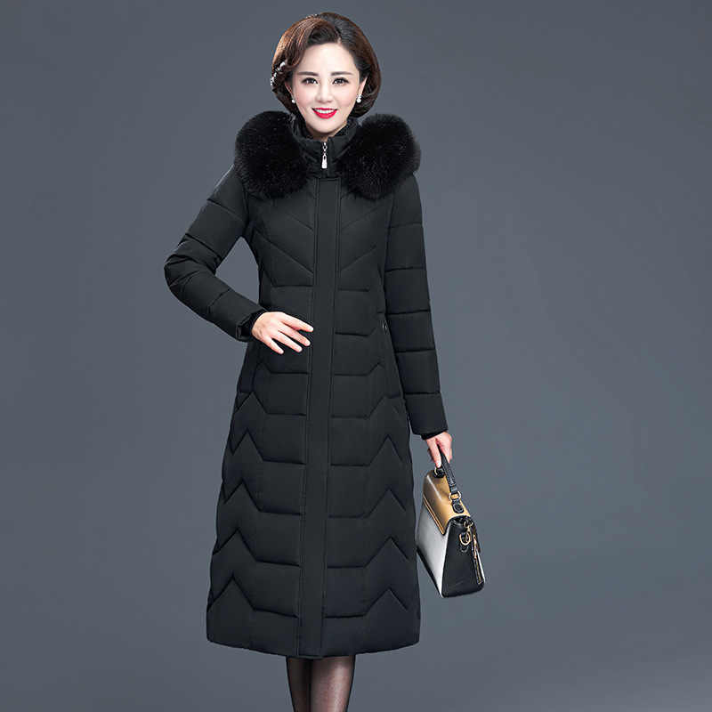 Длинная зимняя одежда, женское хлопковое пальто, женские длинные ботфорты, полные мамы, одежда, пальто и Кепка, хлопковое пальто, пуховая парка для женщин 1206
