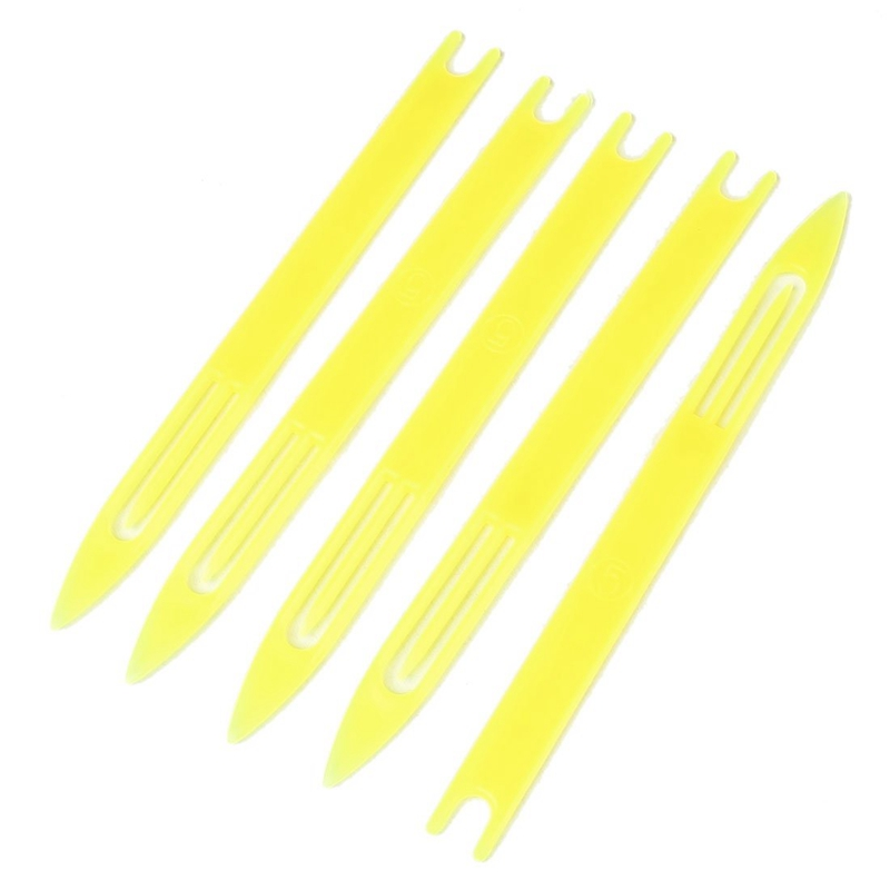 5 Pcs 5# Yellow Plastic Fishing Net Repair Netting Needle Shuttles